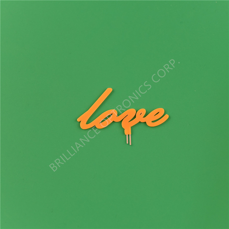 customized LOVE logo light